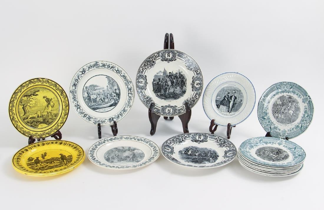 Large Group of French Themed Plates inc Napoleon