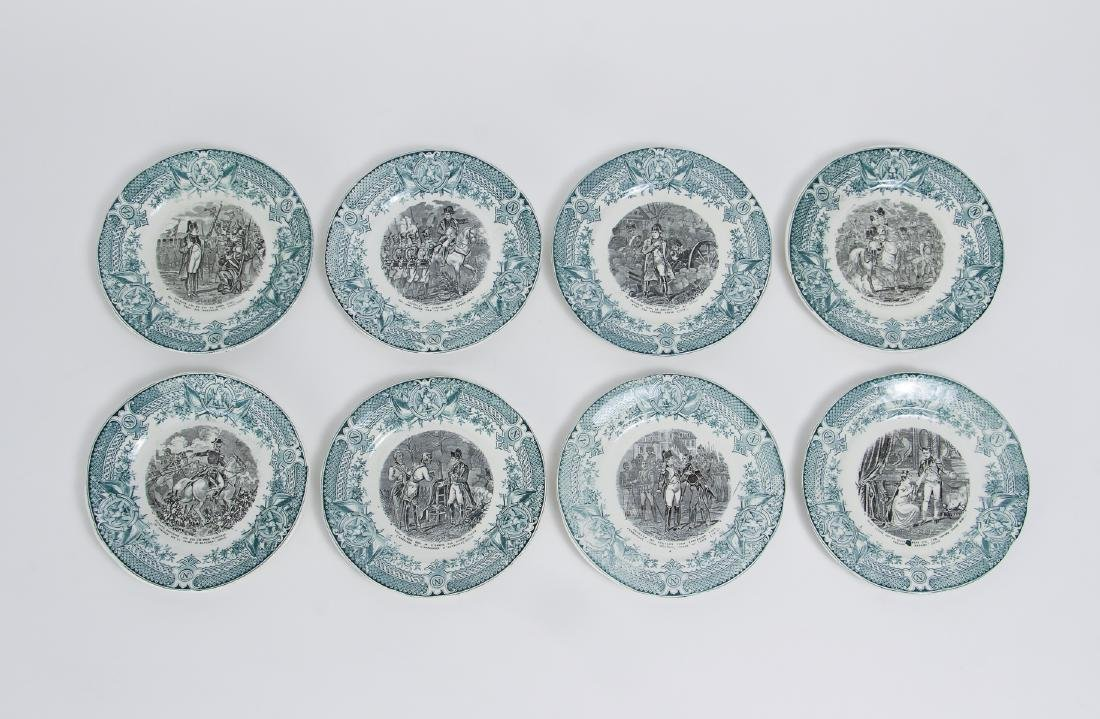 Large Group of French Themed Plates inc Napoleon - 4
