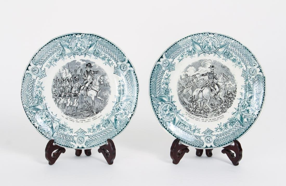 Large Group of French Themed Plates inc Napoleon - 5