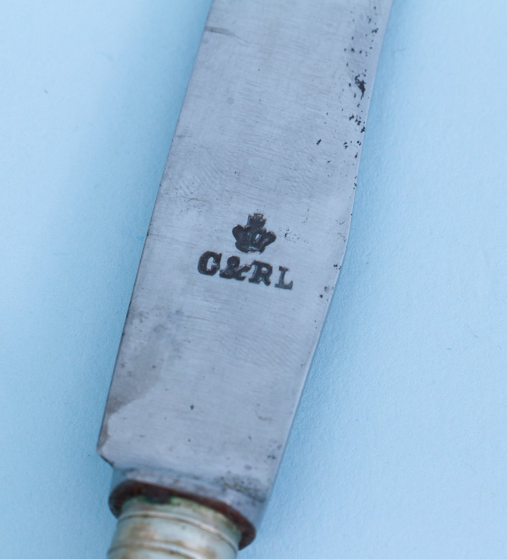 Six Blue Onion Porcelain Handled Knives - 4