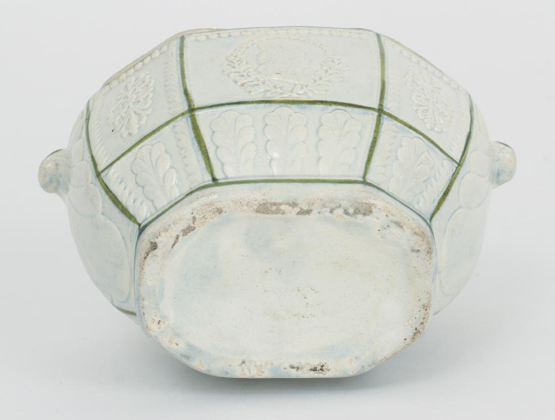Creamware Covered Sugar with Federal Symbols - 6