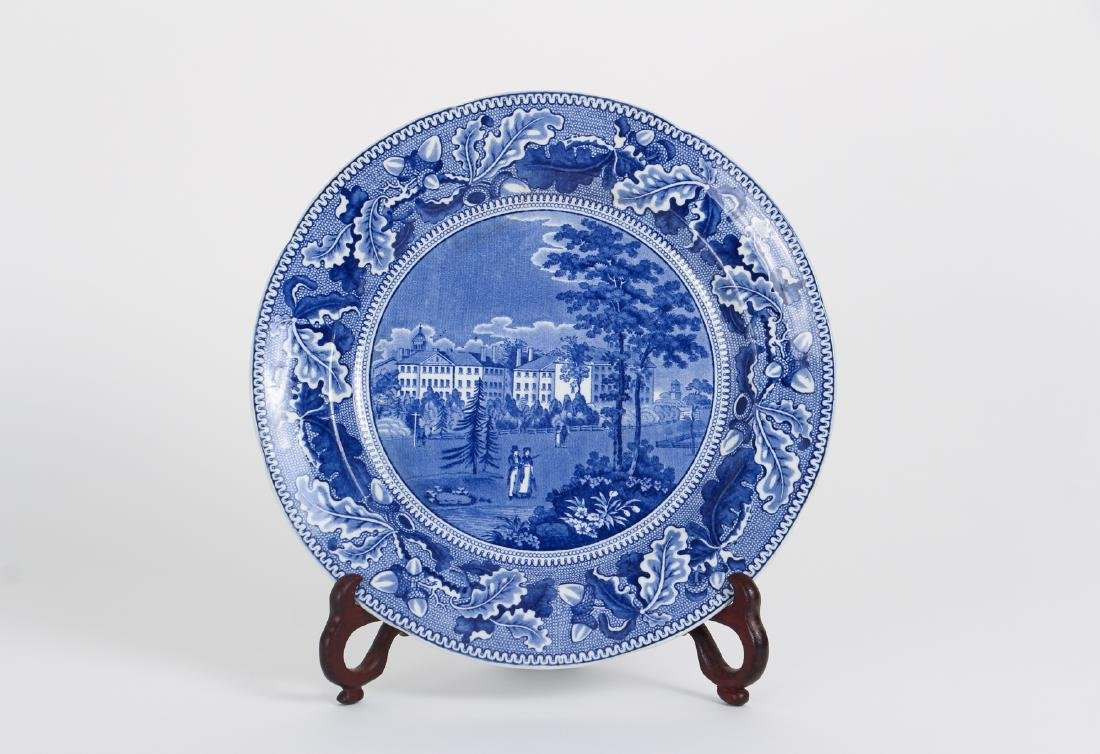 Four Pieces Antique Blue Transferware Pottery - 2
