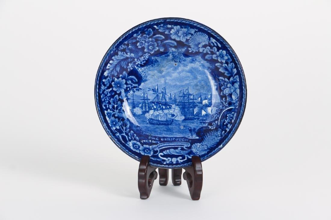 Four Pieces Antique Blue Transferware Pottery - 5