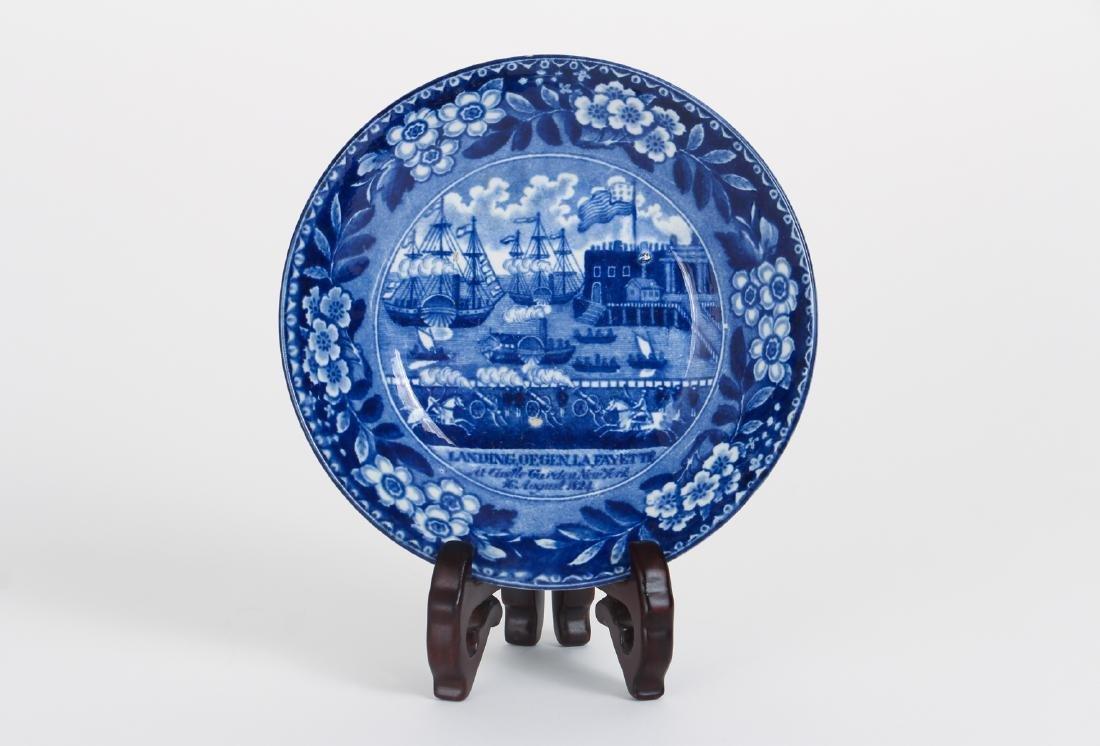 Four Pieces Antique Blue Transferware Pottery - 8