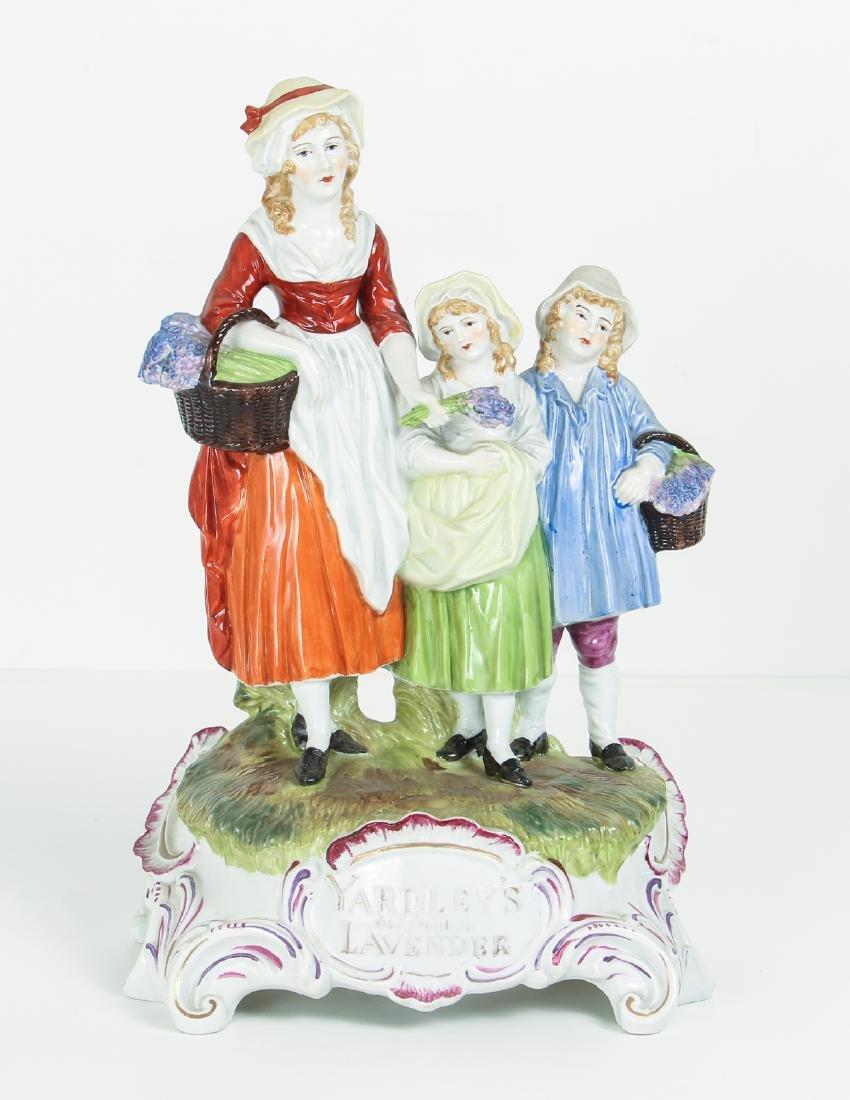 DRESDEN Porcelain Figurine Advertising Yardley's Old