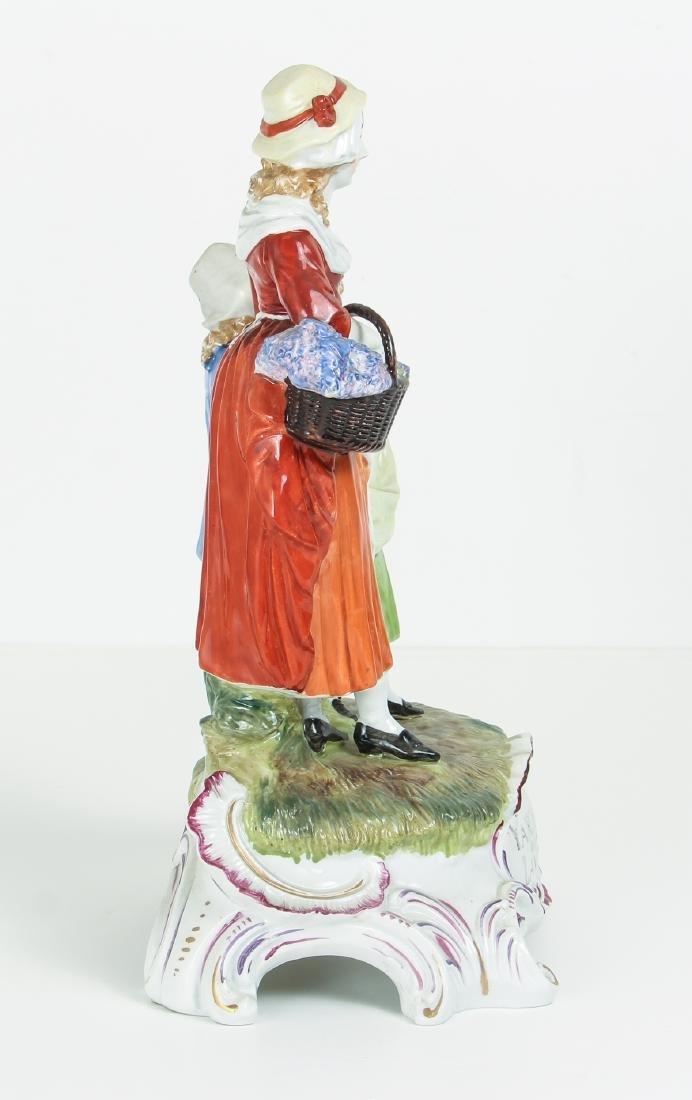 DRESDEN Porcelain Figurine Advertising Yardley's Old - 2