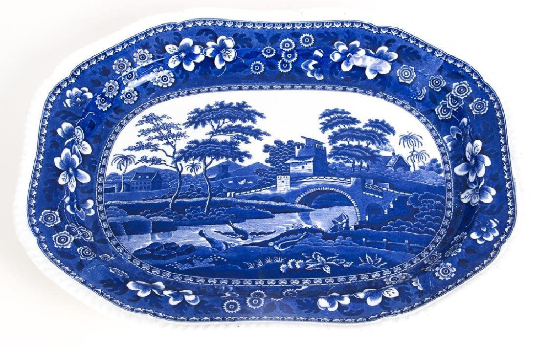 Large Copeland Spode  Blue Willow Platter