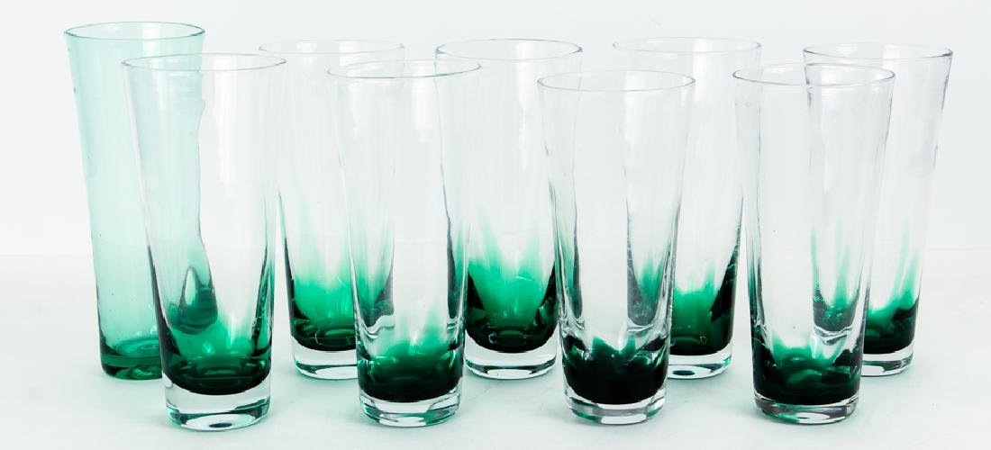 9 Handblown Pilsner Glasses