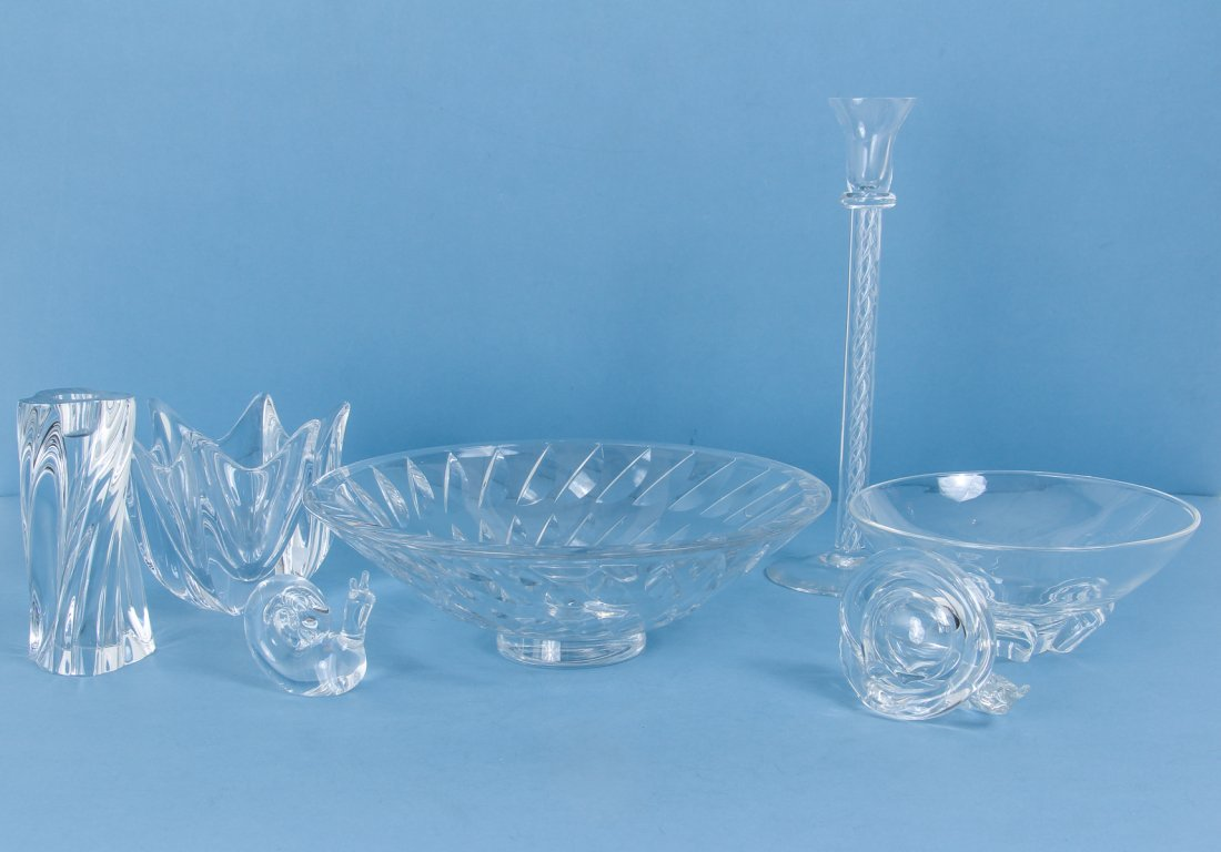 Steuben Orrefors  Baccarat and Other Crystal