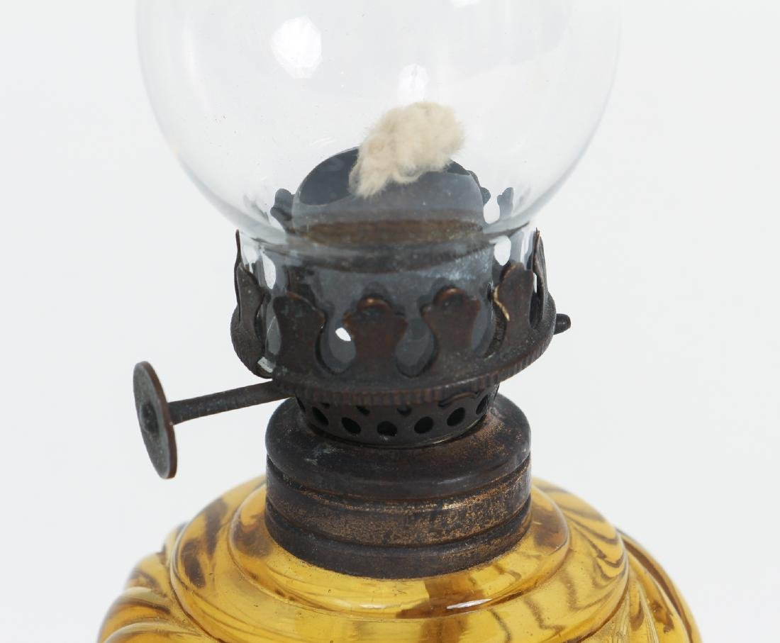 Sandwich Glass Lantern and Candlestick - 3