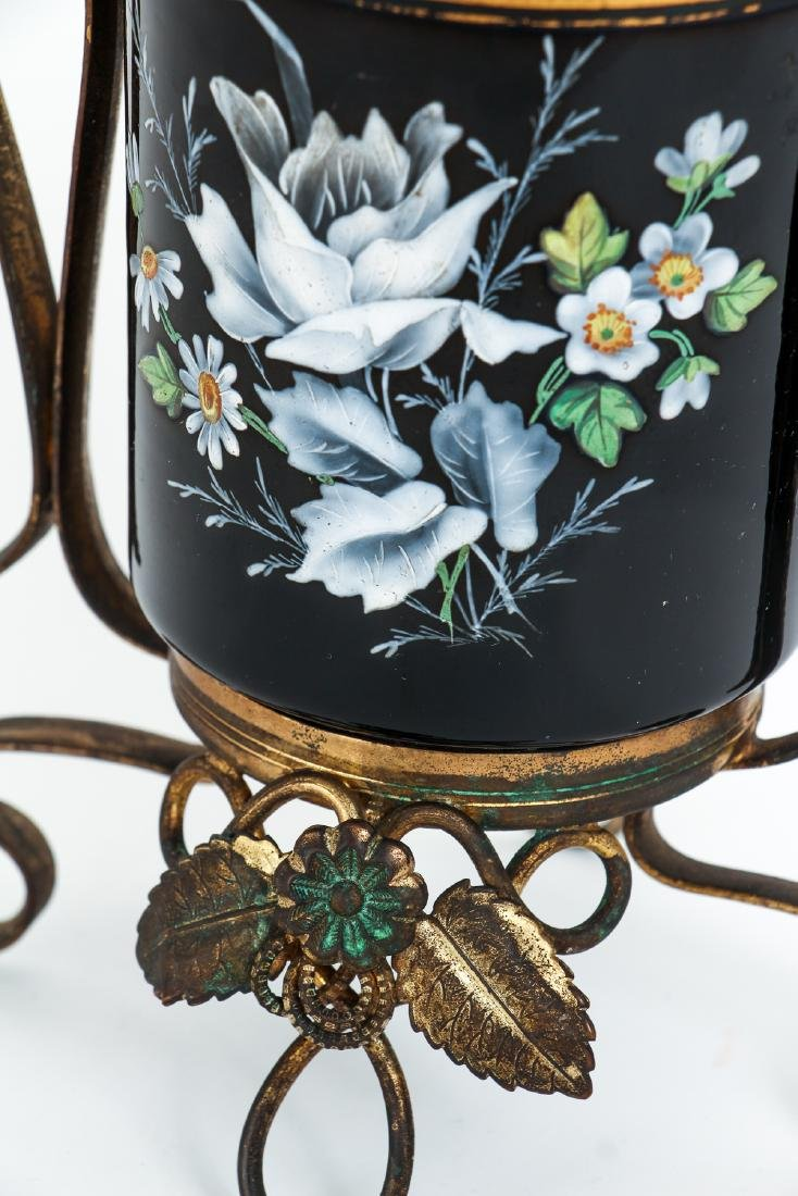 Two Pieces Victorian Enamel Glass - 5