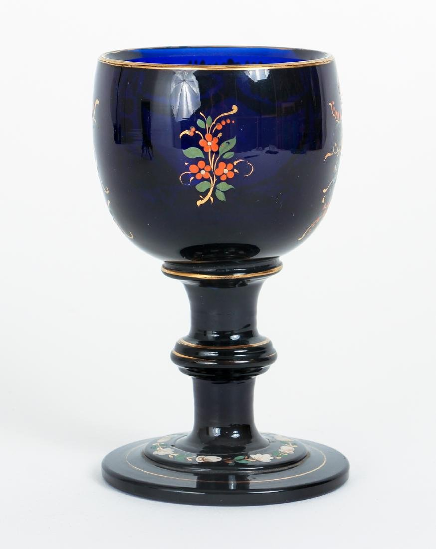 Two Pieces Victorian Enamel Glass - 7