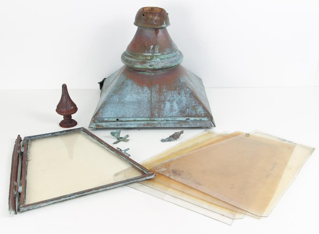 Large Copper Outdoor Lantern