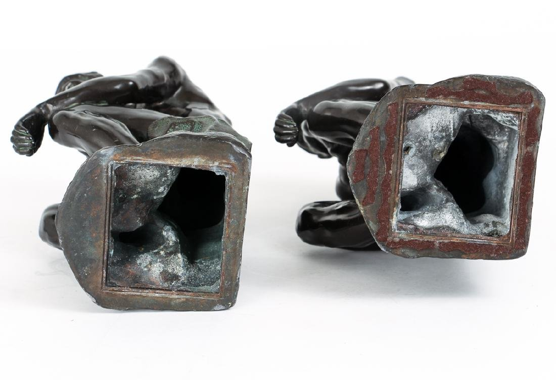 Pair of Bronze Finished Pot Metal Bookends - 7