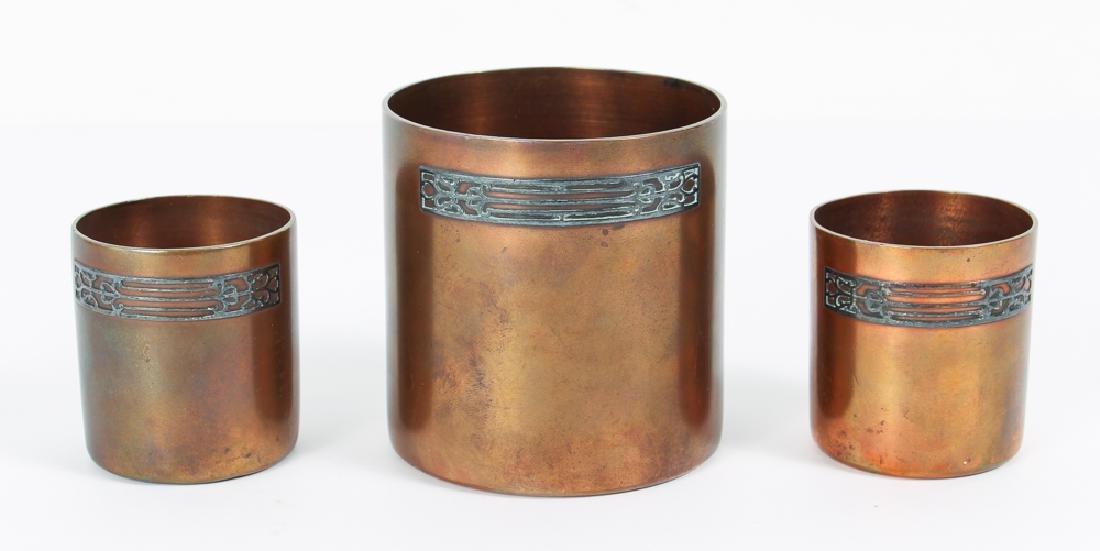 Heinz Arts Metal Shop Sterling on Bronze Smoking Set