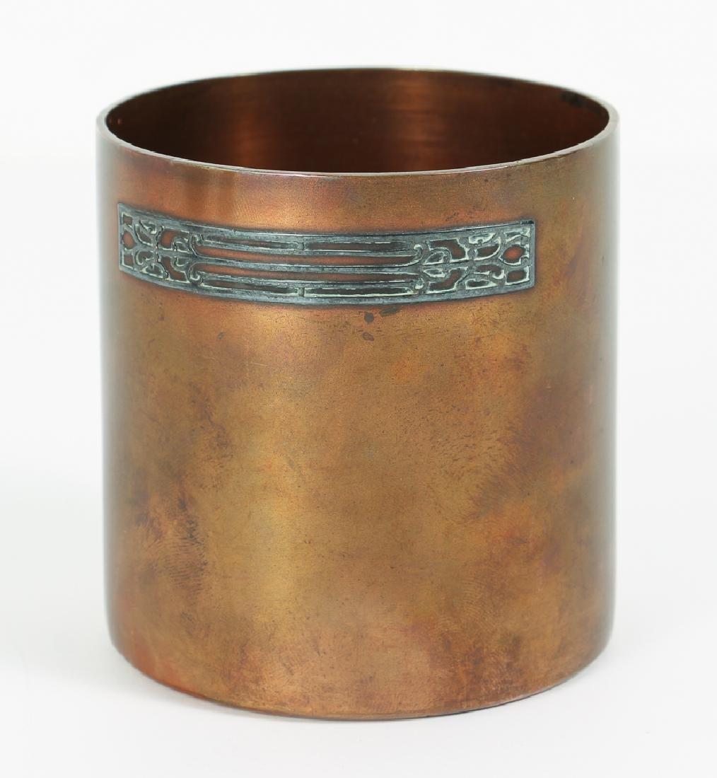 Heinz Arts Metal Shop Sterling on Bronze Smoking Set - 2