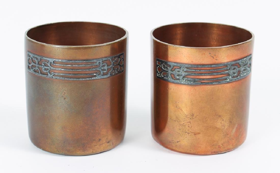 Heinz Arts Metal Shop Sterling on Bronze Smoking Set - 6