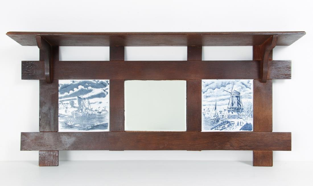 Arts and Crafts Style Plate Rack