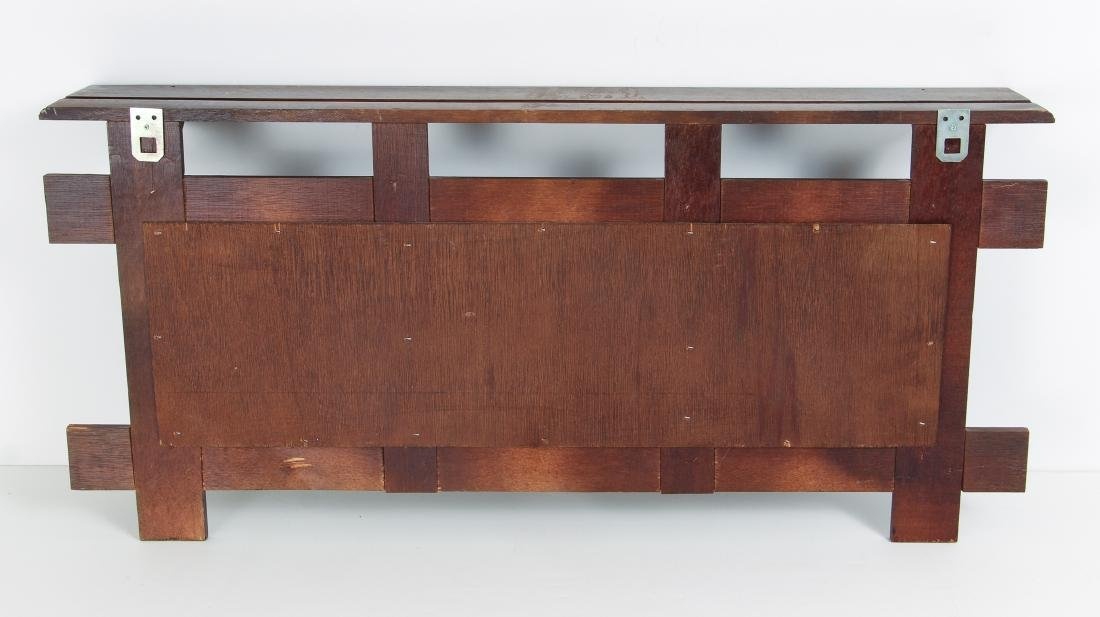 Arts and Crafts Style Plate Rack - 3
