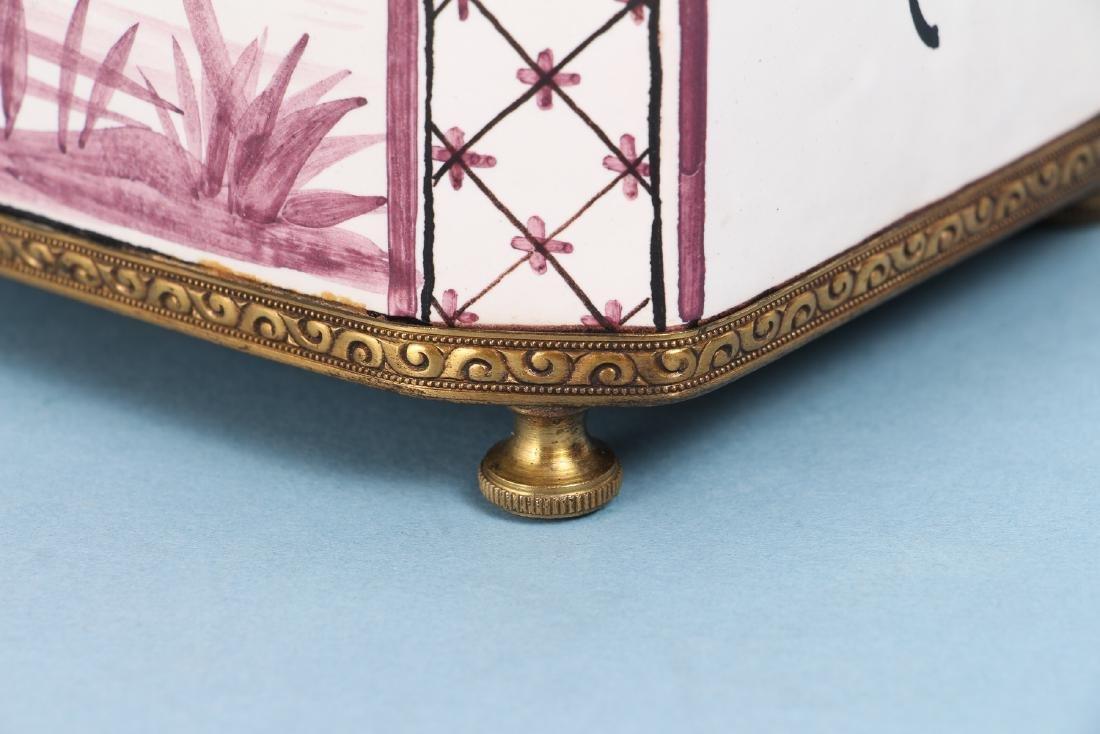 Quimper Style Ceramic Lamp - 10