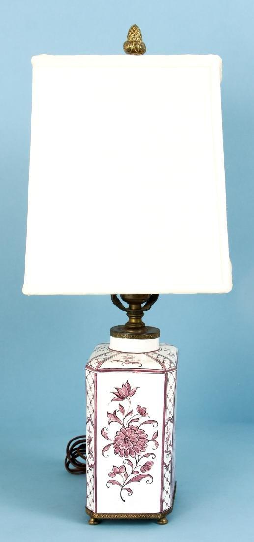 Quimper Style Ceramic Lamp - 2