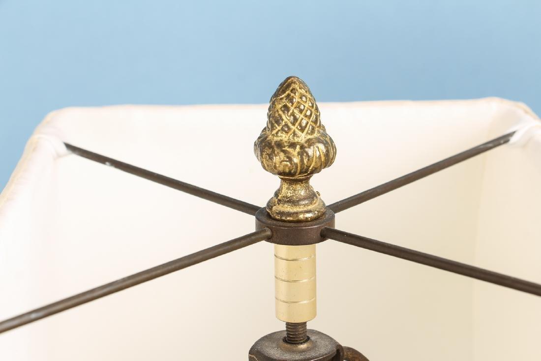 Quimper Style Ceramic Lamp - 5