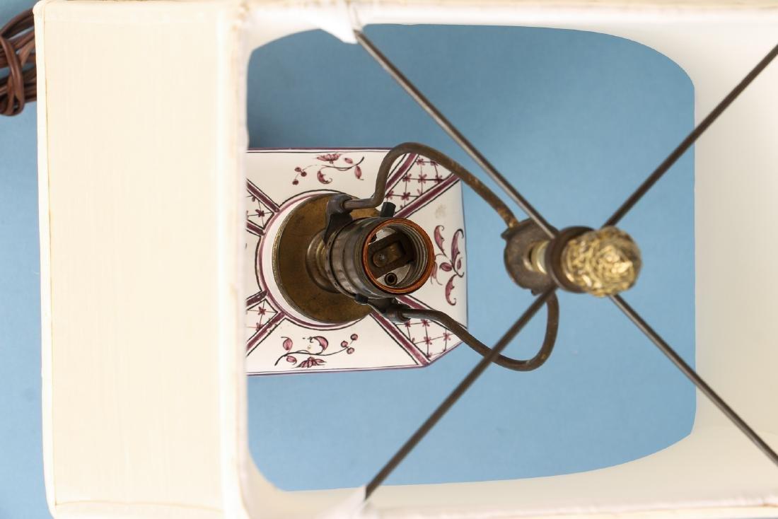 Quimper Style Ceramic Lamp - 6