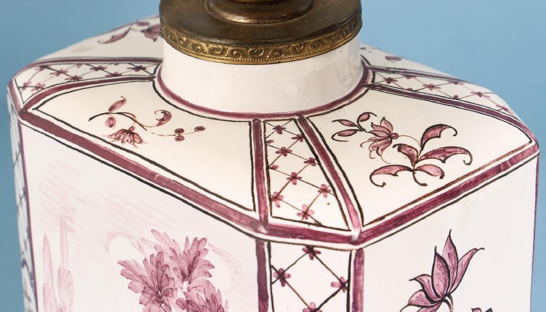 Quimper Style Ceramic Lamp - 7