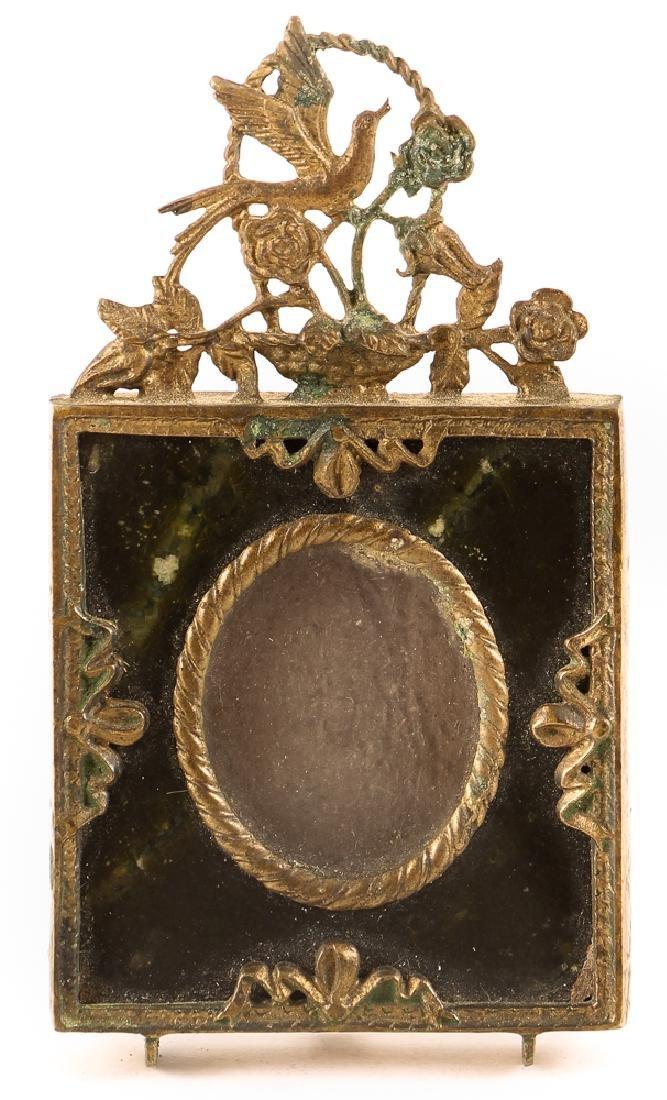 Brass and Serpentine Miniature Frame