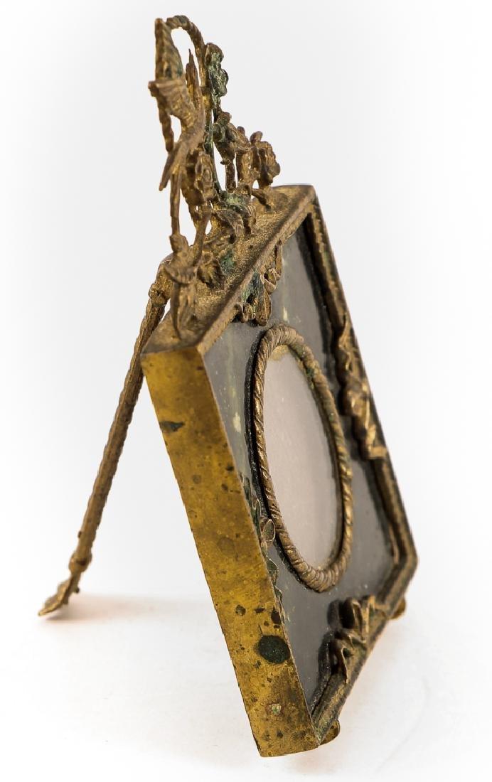Brass and Serpentine Miniature Frame - 2