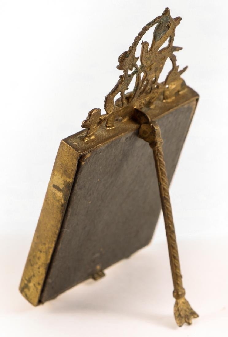 Brass and Serpentine Miniature Frame - 3