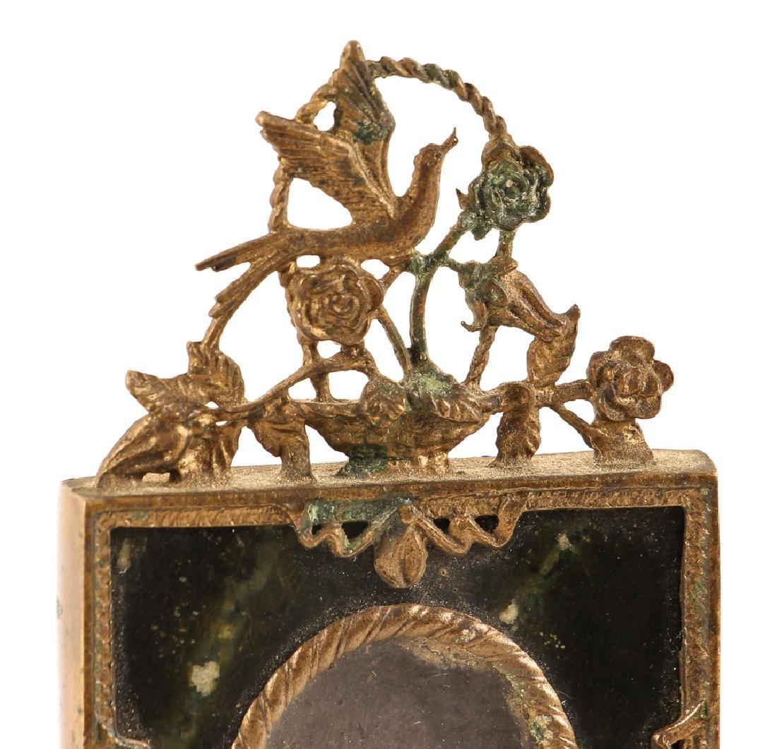Brass and Serpentine Miniature Frame - 4