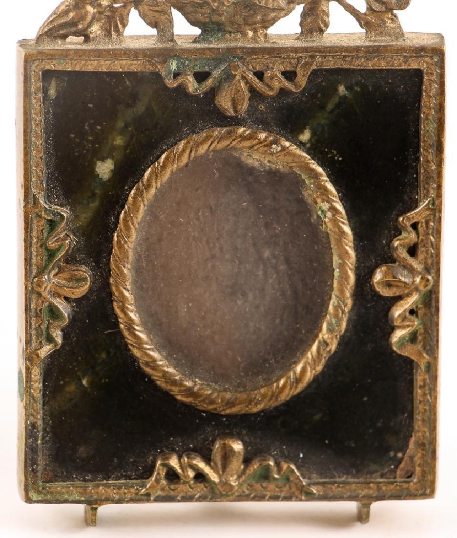 Brass and Serpentine Miniature Frame - 5