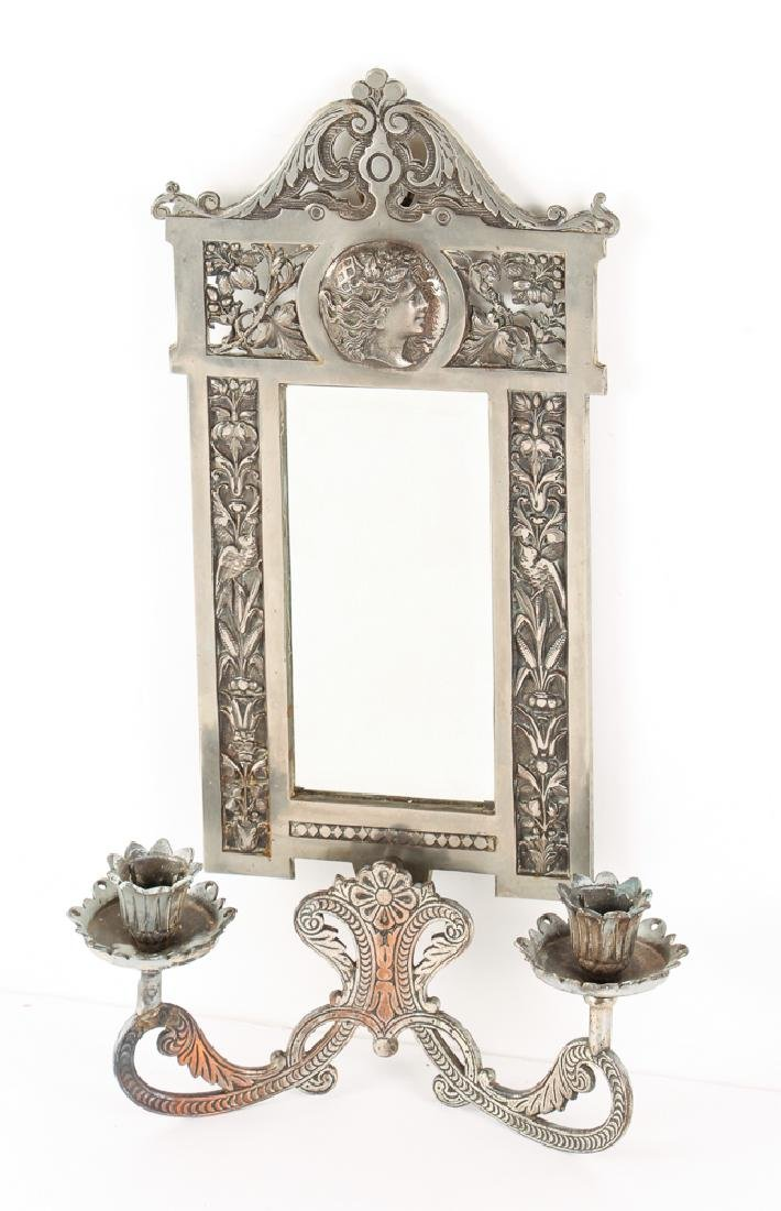 Mirrored Double Candle Wall Sconce