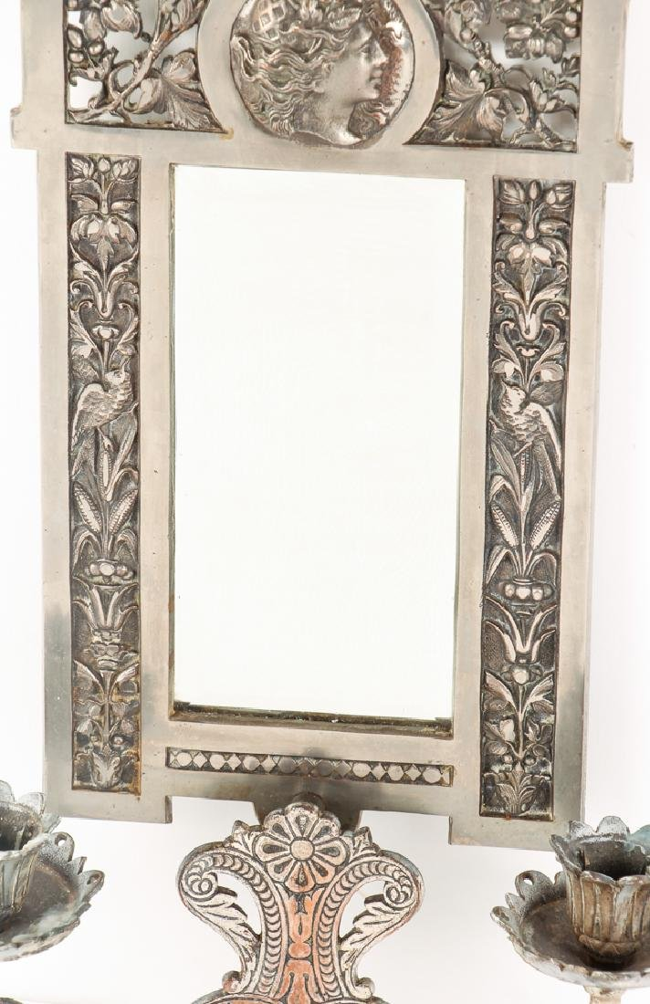 Mirrored Double Candle Wall Sconce - 3