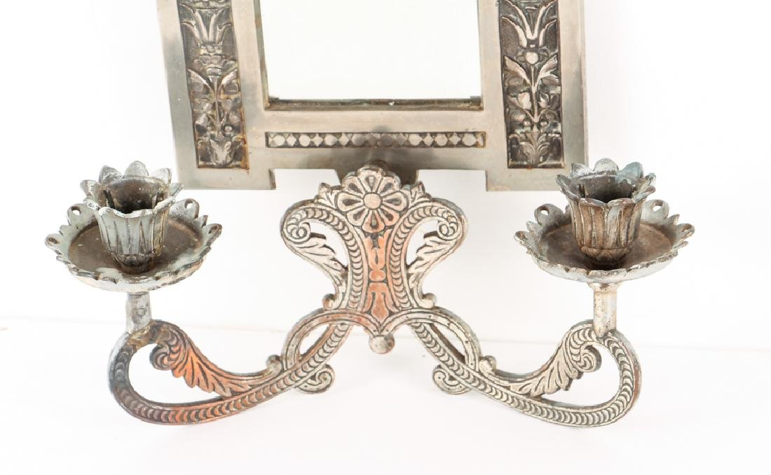 Mirrored Double Candle Wall Sconce - 4