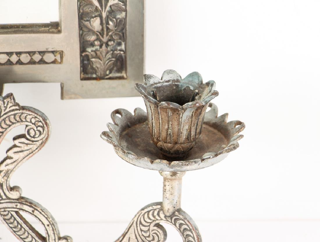Mirrored Double Candle Wall Sconce - 6