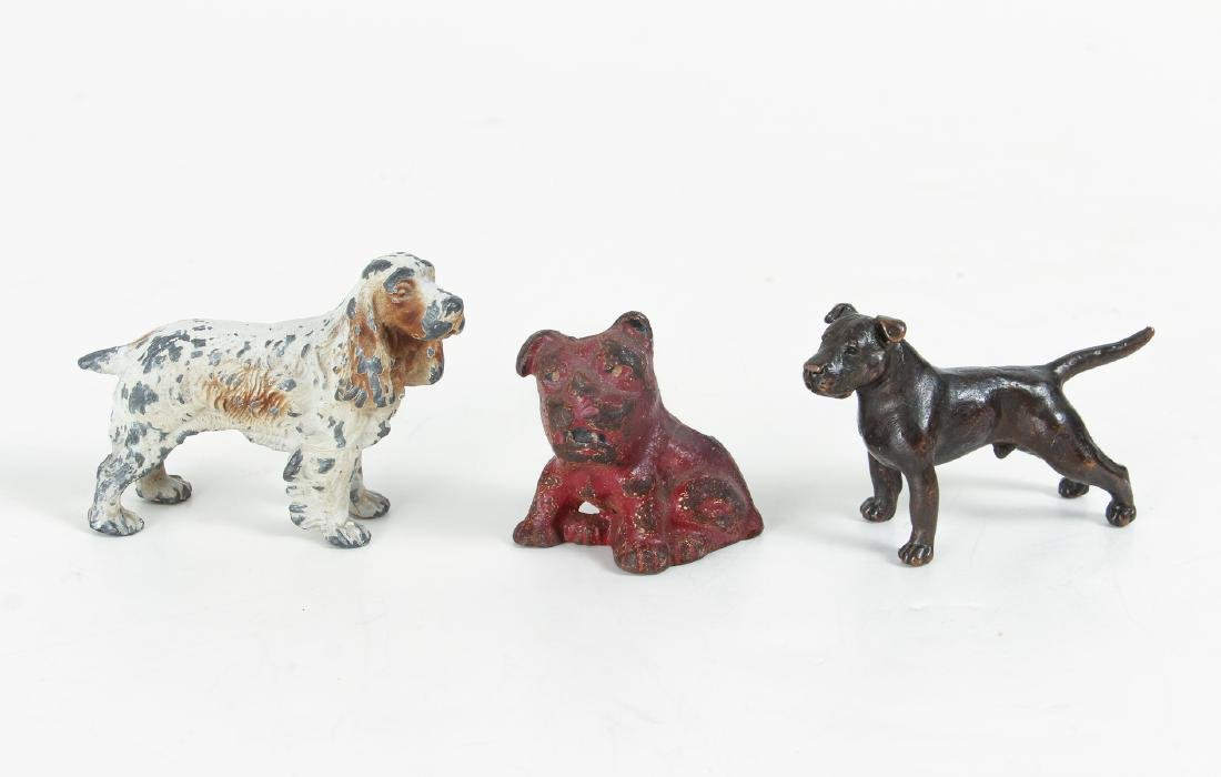 Ten Metal Animal Form Paperweights, Doorstops, Etc. - 6