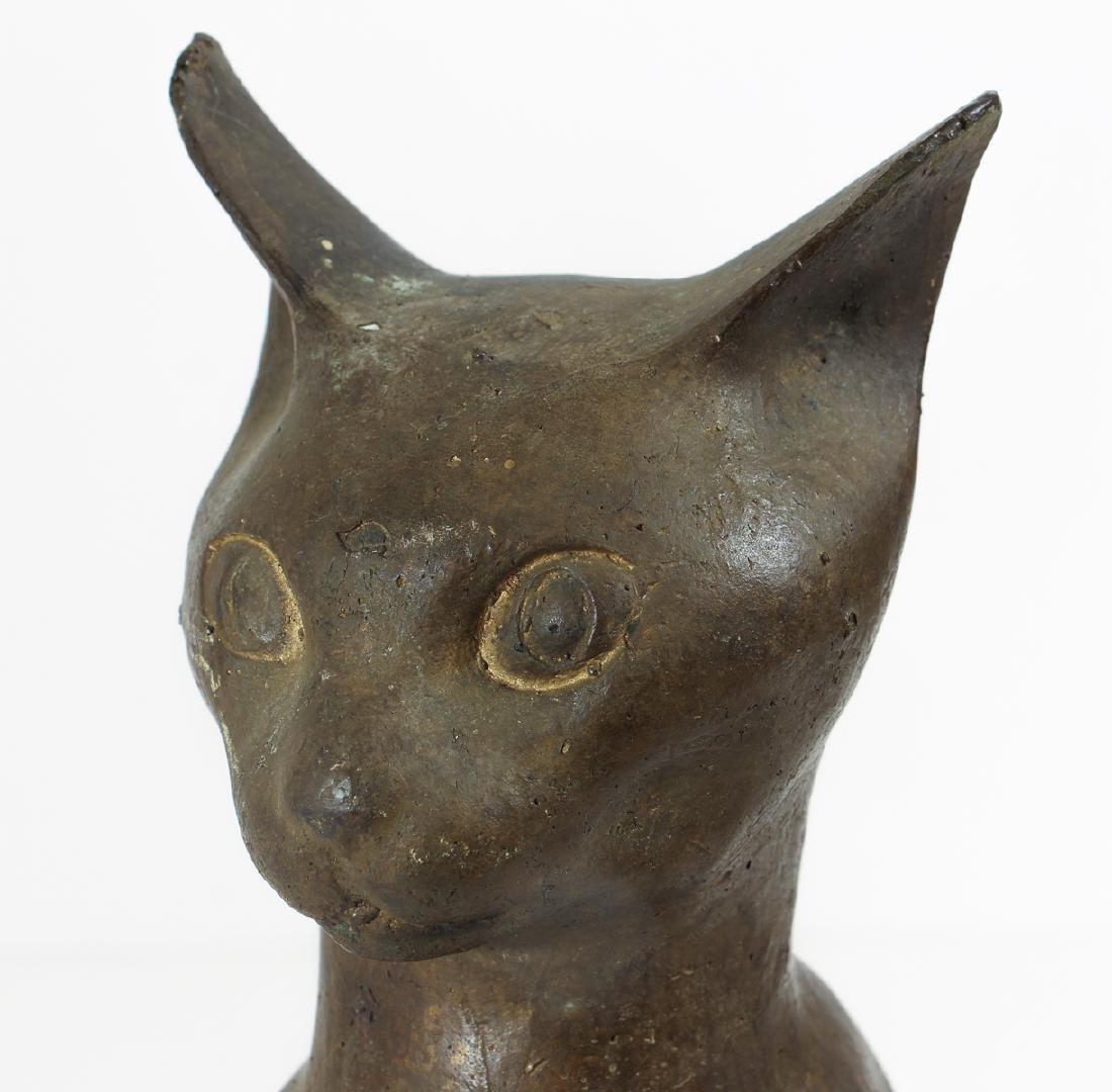 Folk Art Bronze Cat in the Egyptian Style - 5