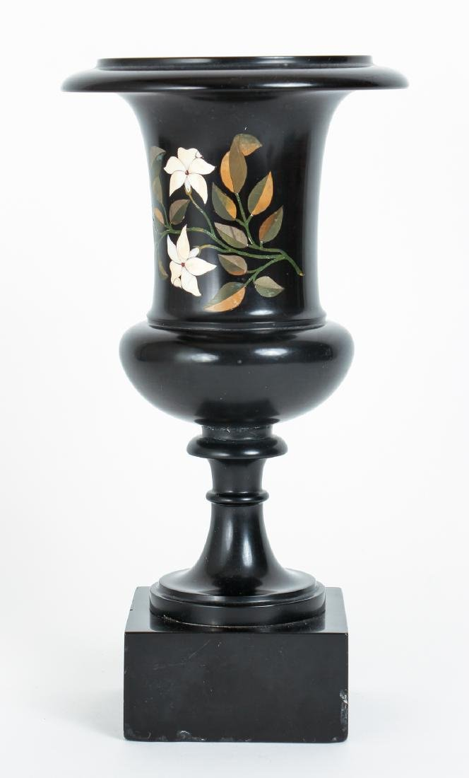 Marble Urn with Pietra Dura Inlay