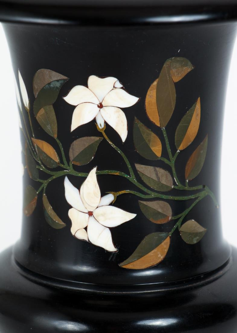 Marble Urn with Pietra Dura Inlay - 4