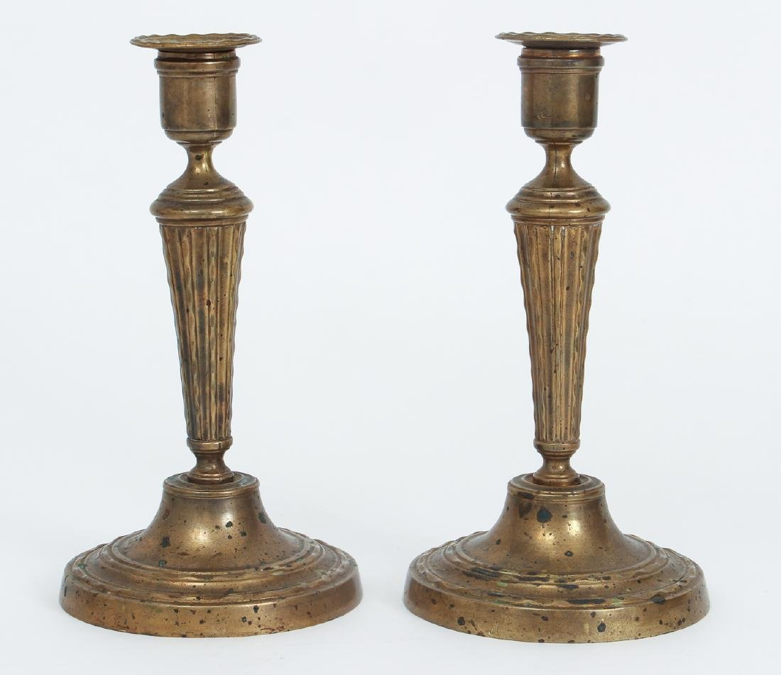 Six Antique Brass Lighting Items - 3
