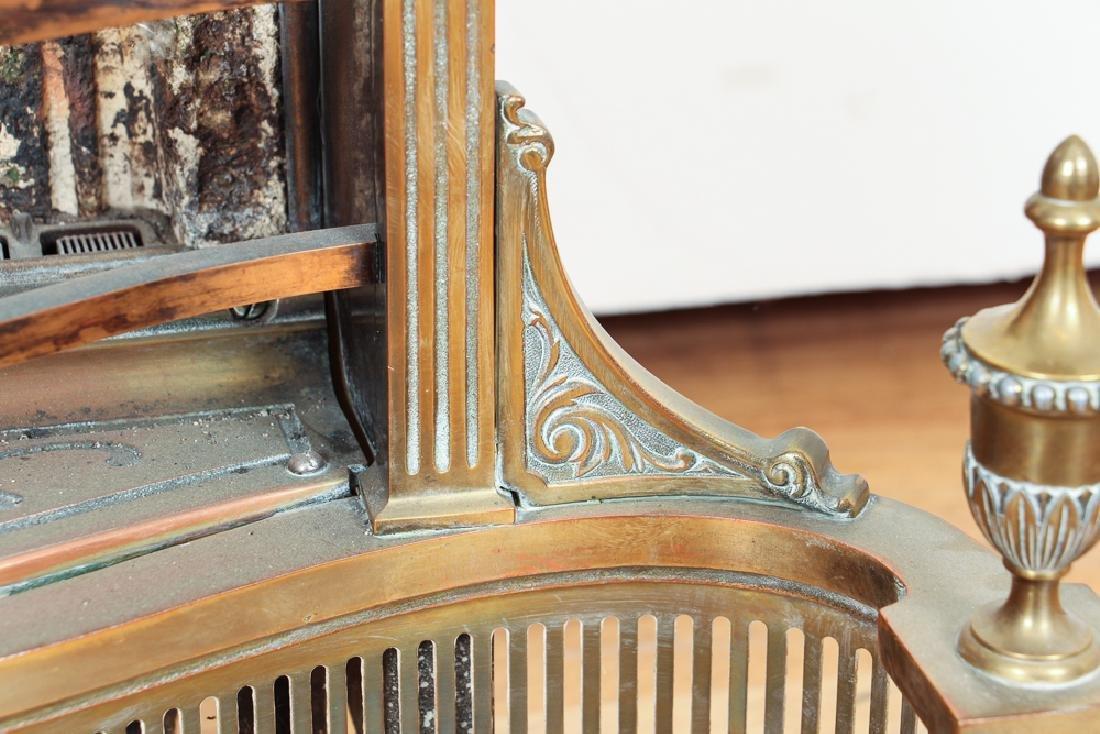Humphrey Radiant Fire Brass Fireplace Insert - 10