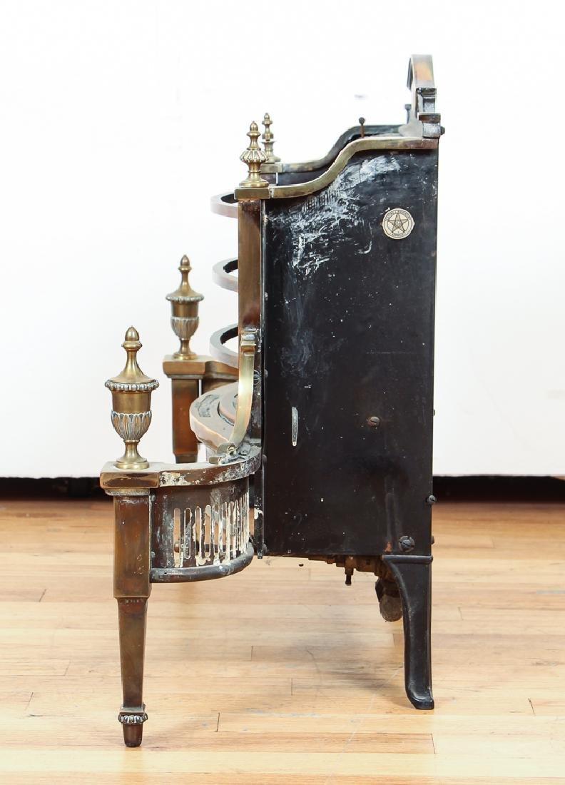 Humphrey Radiant Fire Brass Fireplace Insert - 3