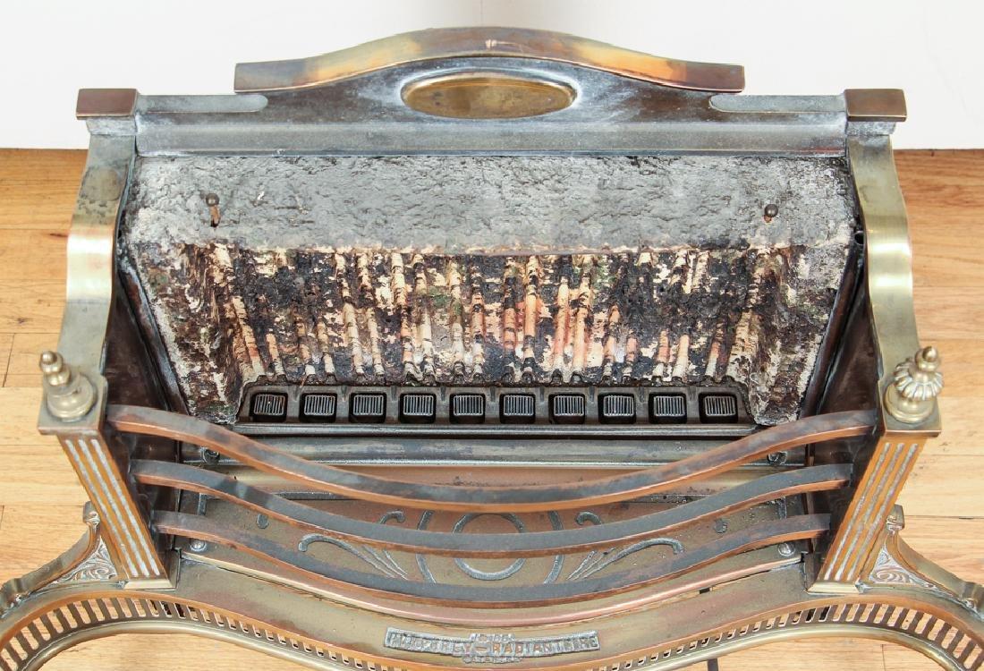 Humphrey Radiant Fire Brass Fireplace Insert - 7