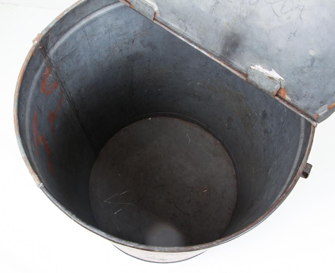 Large Antique Tole Painted Flour Bin - 3