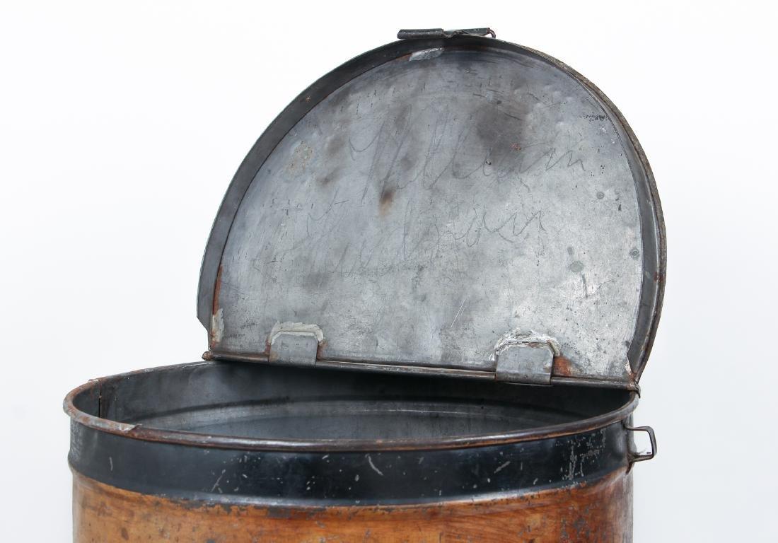 Large Antique Tole Painted Flour Bin - 4