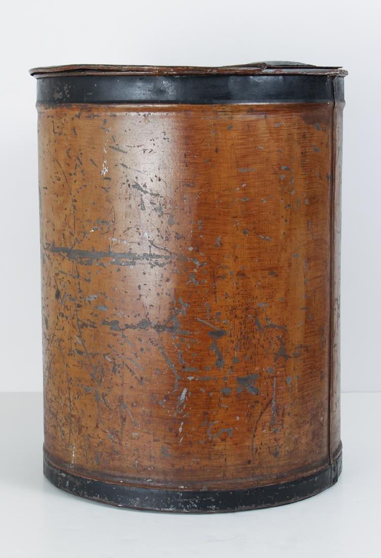Large Antique Tole Painted Flour Bin - 5