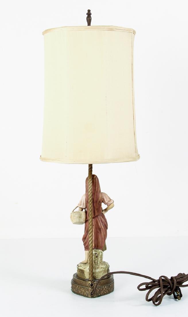 Pair Italian Peasant Porcelains As Lamps - 3
