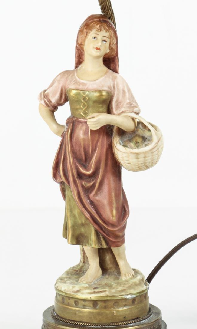 Pair Italian Peasant Porcelains As Lamps - 4